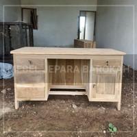meja kantor meja kerja meja belajar 1 biro mentah kayu jati