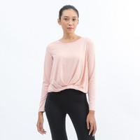 miniletics Twisty Free (Crop Long Sleeve) Baju Olahraga Wanita - Soft Pink,S