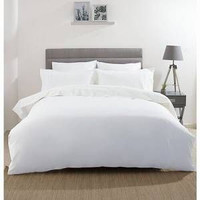Bedcover Set White 180x200 Bad cover King Putih no 1 Hotel Homestay
