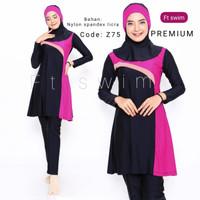 Baju renang muslimah dewasa/pakaian renang remaja perempuan muslim - Z77, M