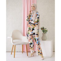 Baju Tidur Wanita Lengan Panjang Katun Rayon Piyama Kemeja Set FitToXL