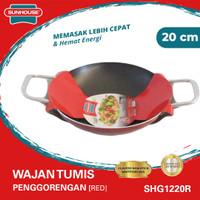 Sunhouse (SHG1220R) Wajan Pan Anti Lengket Hitam Merah 20 cm 1 Pcs