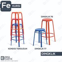 BANGKU / KURSI BAKSO DINGKLIK 77 79 BESI BINA KARYA - 75 cm