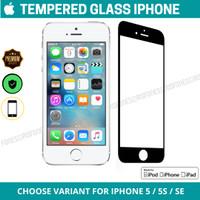 Tempered Glass iPhone 5 5S SE Screen Guard Protector Anti Gores Kaca - iPhone 5, Putih