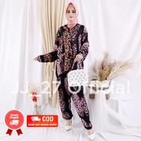 Setelan Baju Lengan Panjang Piyama Wanita Jumbo Bigsize Ld 120