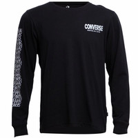 Converse A8C76GS City Works Graphic Long Sleeve T-Shirt hitam original