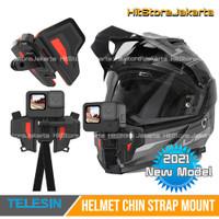 Helmet Chin Mount Helm Mounting GoPro Action Cam Helmet Mount Telesin