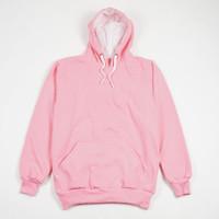 Jaket Sweater Polos Hoodie Jumper Baby Pink - Premium Quality