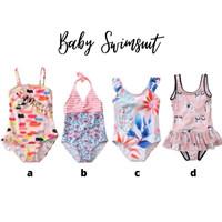 BG1732 - Baju Renang Bikini Tankini Anak Bayi Cewek Lucu Stripes Red