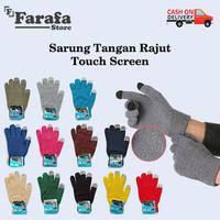Sarung Tangan Rajut Touch Screen Bahan Wol