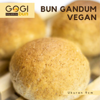 Roti Bun Burger Gandum Wholemeal VEGAN Bun Gandum Whole Wheat 6 Pcs - 7cm, Tanpa Wijen
