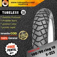 Ban motor vespa classic klasik 100/90 ring 10 tubles tubeless swallow