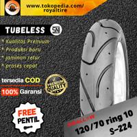 Ban luar motor vespa 120/70 ring 10 lx s lxv tubles tubeless swallow