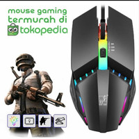 MOUSE GAMING LED X3 / MOUSE GAMING RGB WITH CABLE USB X3 TERMURAH