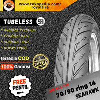 Ban luar motor matic 70/90 ring 14 mio beat scoopy tubles tubeless