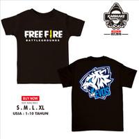Kaos Baju Anak Free Fire Team Evos E Sport Kaos Game - Karimake