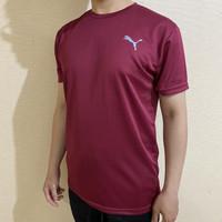 Kaos Olahraga / Baju Bahan Dry Fit PU01 - M, Putih