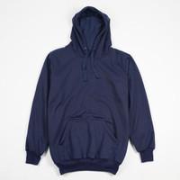 Jaket Sweater Polos Hoodie Jumper Biru Navy - Premium Quality