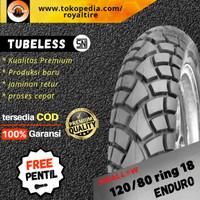 Ban luar motor swallow 120/80 ring 18 tubles tubeless dual purpose