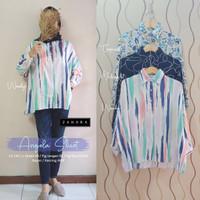New Angela Shirt Atasan Wanita Super Jumbo Big Size Rayon Adem Cantik