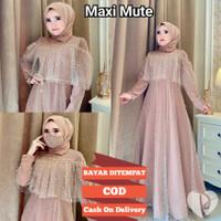 Cod Baju Gamis maxy pesta tile mute kondangan busana muslim ld100