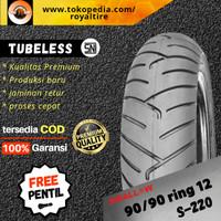 Ban luar motor swallow 90/90 ring 12 ban depan scoopy tubles tubeless