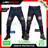 Celana Jeans Bikers Pria Touring Murah Berkualitas dengan 2 Protector