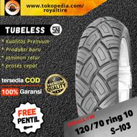 Ban luar motor swallow 120/70 ring 10 vespa lx s lxv tubles tubeless