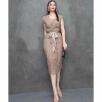 Vexana Lace Party Dress import Dress Pesta Mewah Brukat import