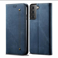 Flip Case SAMSUNG GALAXY S21 S 21 2021 Casing Cover Jeans Kulit Dompet