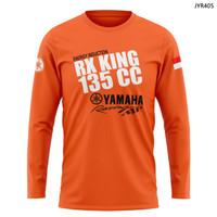 kaos motor yamaha rx king kaos tangan panjang catton combed 24s - XS