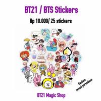 25 pcs Stiker BTS/BT21 untuk Laptop, Hp, Koper, Tas, Dinding