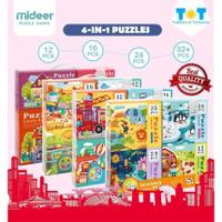 Mideer beginner puzzle set lengkap mainan edukasi anak pemula murah