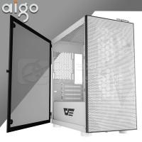 Aigo DLM21 MESH White Tempered Glass Micro ATX Gaming Case - Putih