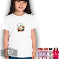 baju kaos anak shooky bts bt21 / bts bt21 carracter kpop - Putih, XS