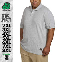 polo shirt big size 4XL 5XL 6XL 7XL 8XL kaos kerah pria jumbo hitam
