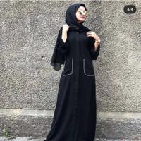 Abaya gamis hitam arab bordir dolar