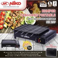 NIKO NK-269 Kompor Panggang Portable Griller Sate BBQ Gas Stove 2 in 1