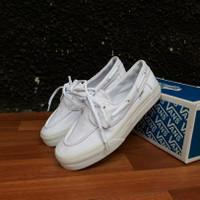 Sepatu Vans Zapato Wanita All white Premium import China Waffle ICC