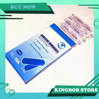 ORIGINAL Waterproof Band Aid Blue Metal Plaster Luka Tahan Air - 10 pcs
