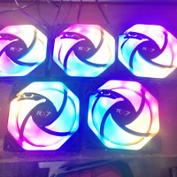 FAN RGB X-BLADE RAINBOW 12CM / AUTO RAINBOW / SPIN