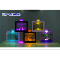 Aquarium Mini - Aquarium Ikan Cupang - Aquarium Soliter 13x9x13cm - Tanpa Lampu