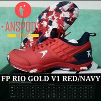SEPATU BADMINTON FLYPOWER RIO GOLD V1 RED/NAVY