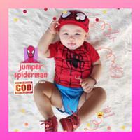 Baju bayi jumper baby bodysuit newborn jumpsuit romper anak spiderman