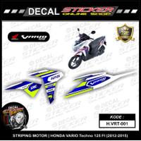 STIKER MOTOR HONDA VARIO TECHNO 125 FI 2012-2015 DECAL STRIPING CUSTOM