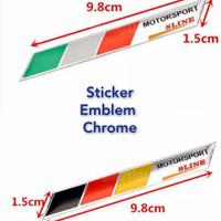 Sticker Emblem Chrome Motor Sport Italia France Germany England