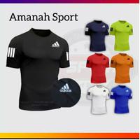 Kaos Olahraga Jersey futsal Baju Sepak Bola adidas putih 1