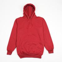 Jaket Sweater Polos Hoodie Jumper Merah Maroon - Premium Quality