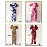 Set Baju Setelan Tiedye dan Macan Panjang Bali Piyama Tie Dye Bali