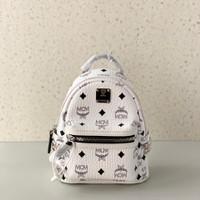 MCM Bebeboo X Mini Backpack White Authentic